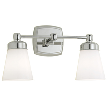 Norwell 8932-BN-SO - Soft Square 2 Light Sconce