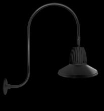 "RAB Lighting GN3LED13NSTB - GOOSENECK UPCURVE 30"" HIGH, 25"" FROM WALL 13W NEUTRAL LED 15"" STRAIGHT SHADE BLACK"