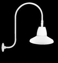 "RAB Lighting GN3LED13NRSTW - GOOSENECK UPCURVE 30"" HIGH, 25"" FROM WALL 13W NEUTRAL LED 15"" STRAIGHT SHADE RECTANGULAR"