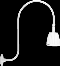 "RAB Lighting GN3LED13NW - GOOSENECK UPCURVE 30"" HIGH, 25"" FROM WALL 13W NEUTRAL LED NO SHADE WHITE"