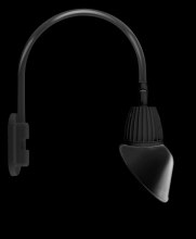 "RAB Lighting GN4LED13NRAC11B - GOOSENECK WALL 20"" HIGH, 19"" FROM WALL 13W NEUTRAL LED 11"" ANGLED CONE SHADE RECTANGULAR"