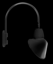 "RAB Lighting GN4LED13NRACB - GOOSENECK WALL 20"" HIGH, 19"" FROM WALL 13W NEUTRAL LED 15"" ANGLED CONE RECTANGULAR REFLE"