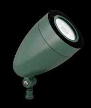 RAB Lighting HSLED13YVG - LFLOOD 13W WARM LED SPOT BULLET WITH HOOD & LENS VERDE