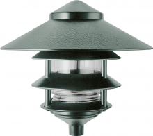 "RAB Lighting LL23VG - LAWN LIGHT 4 TIER + 10"" TOP INCANDESCENT 100W MAX VERDE"