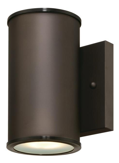 1 Light LED Wall Fixture Oil Rubbed Bronze Finish with Frosted Glass Lens