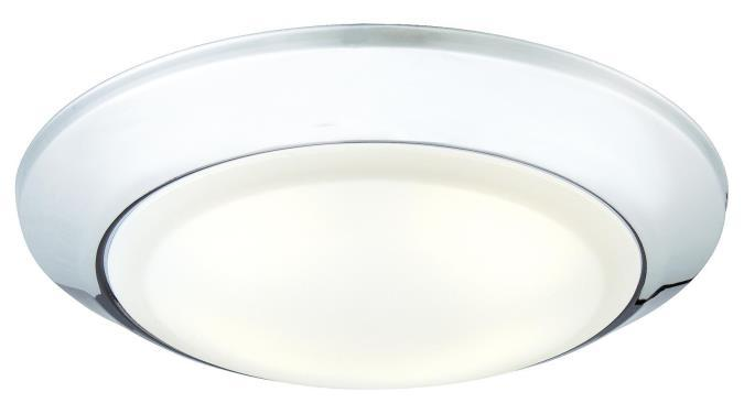 Large LED Surface Mount Chrome Finish with Frosted Lens