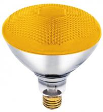Westinghouse 0440900 - 100W BR38 Incandescent Reflector Bug Yellow Flood E26 (Medium) Base, 120 Volt, Box