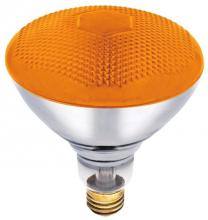 Westinghouse 0441100 - 100W BR38 Incandescent Reflector Amber Flood E26 (Medium) Base, 120 Volt, Box
