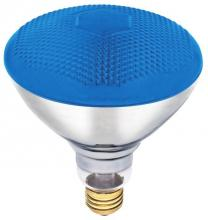 Westinghouse 0441400 - 100W BR38 Incandescent Reflector Blue Flood E26 (Medium) Base, 120 Volt, Box