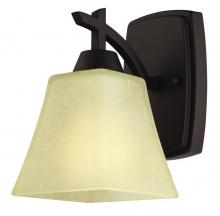 Westinghouse 6307300 - 1 Light Wall Oil Rubbed Bronze Finish with Amber Linen Glass