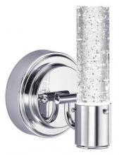 Westinghouse 6307600 - 1 Light LED Wall Chrome Finish with Bubble Glass, Dimmable