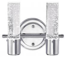 Westinghouse 6307700 - 2 Light LED Wall Chrome Finish with Bubble Glass, Dimmable