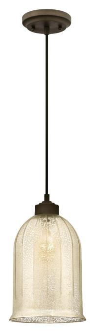 Westinghouse 6328600 - 1 Light Mini Pendant Oil Rubbed Bronze Finish with Antique Mirror Glass