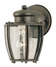 Westinghouse 6468900 - 1 Light Wall Fixture Textured Rust Patina Finish with Clear Curved Glass