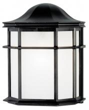 Westinghouse 6689800 - 1 Light Wall Fixture Textured Black Finish with White Acrylic Lens