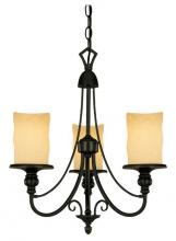 Westinghouse 6900000 - 3 Light Chandelier Burnished Bronze Patina Finish with Burnt Scavo Glass