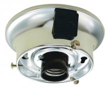 "Westinghouse 7004200 - 3-1/4"" Chrome Finish Glass Shade Holder Kit with Polarized Convenience Outlet"