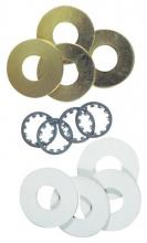 Westinghouse 7015500 - 12 Assorted Washers Brass-Plated Steel
