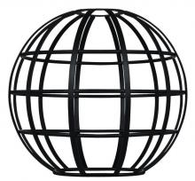 Westinghouse 8101900 - Matte Black Globe Cage Shade