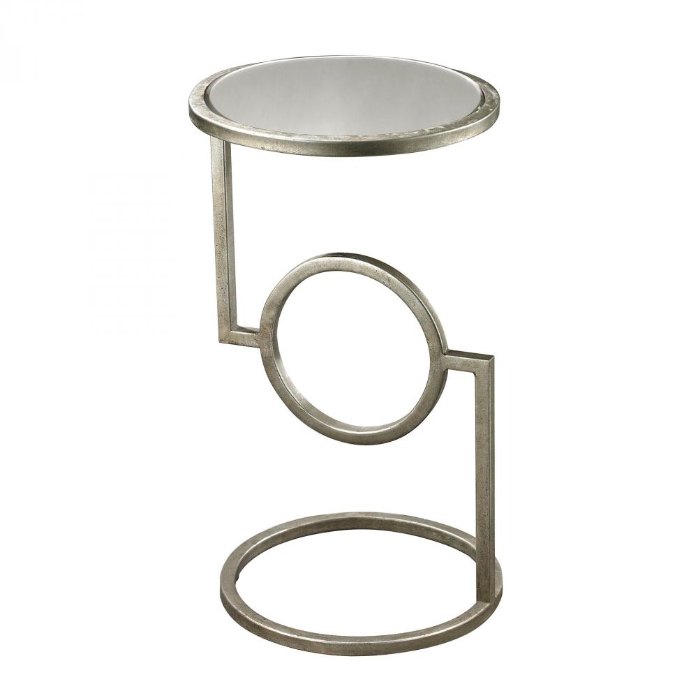 Mirrored Top Hurricane Side Table