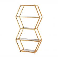 Dimond 1114-208 - Vanguard Book Shelf In Gold Leaf And Clear Mirro