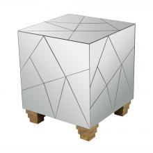 Dimond 114-124 - Mirrored Mosaic Cube Foot Stool