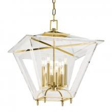 Hudson Valley 7424-AGB - 8 Light Chandelier