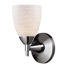 ELK Lighting 10150/1PC-WS - Celina 1 Light Sconce In Polished Chrome And Whi